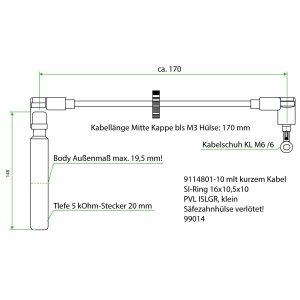 9114801-10 ES Teflon Extension