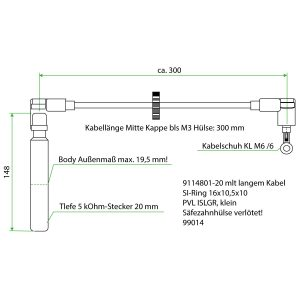 9114801-20 ES Teflon Extension