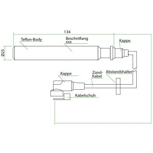 9114904-64 Teflon Extension For MAN 0836