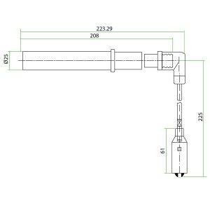 9120801 Mwm TBG 616 Teflon Extension