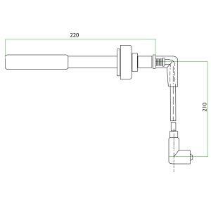 9124103 Deutz Mwm Teflon Extension