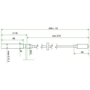 9153704 Doosan Teflon Extension