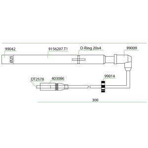 9156207 Mwm Teflon Extension