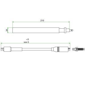 9252204 Iveco Teflon Extension