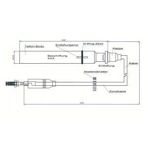 9153311-01-450 Teflon Extension for Man Gas Engines