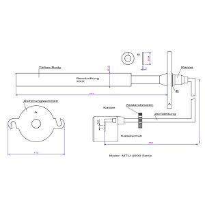 91850038-1 Teflon Extension for MTU 4000 series coupled to Mototech
