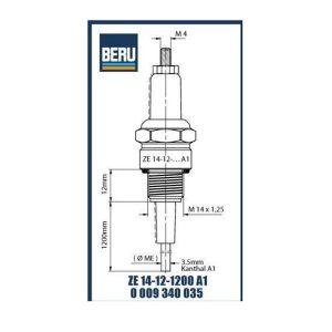 ZE14-12-1200A1 BERU ELECTRODES