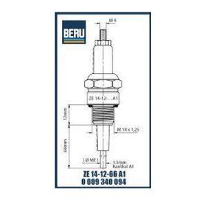 ZE14-12-66A1 BERU ELECTRODES