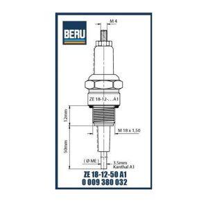 ZE18-12-50A1 BERU ELECTRODES