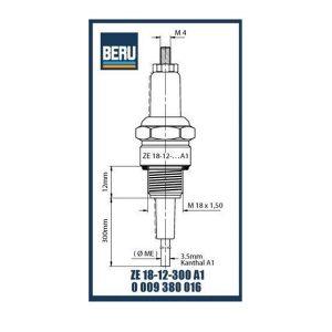 ZE18-12-300A1 BERU ELECTRODES
