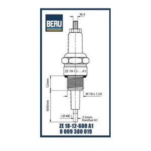 ZE18-12-600A1 BERU ELECTRODES