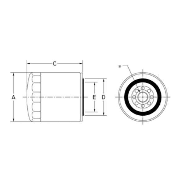 oil filter A010F037
